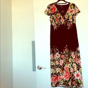 Beautiful black/floral long dress